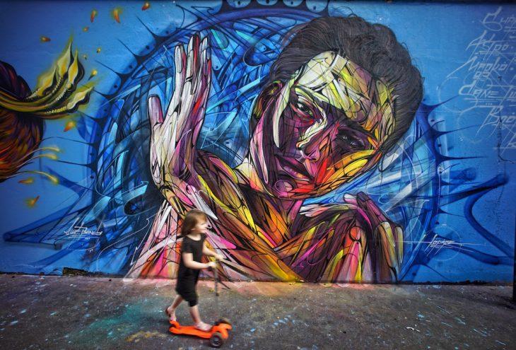 Ourcq Living Colors du Street artiste Alex Hopare